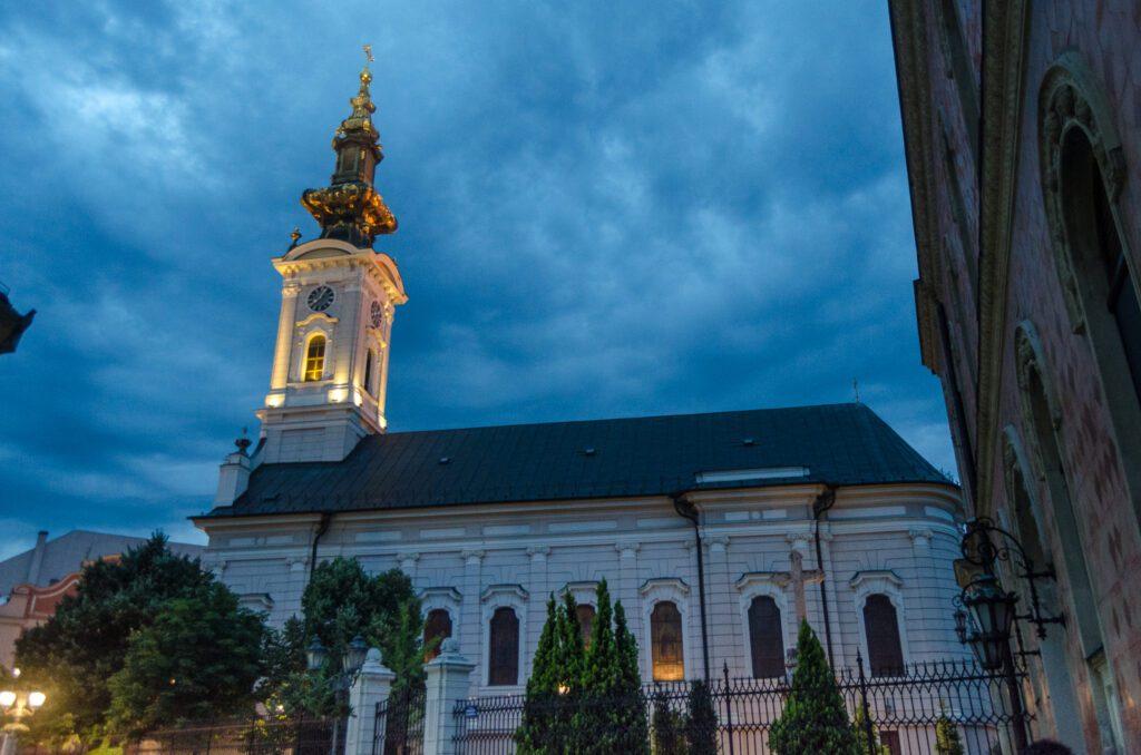 Saborna crkva Novi Sad nocu