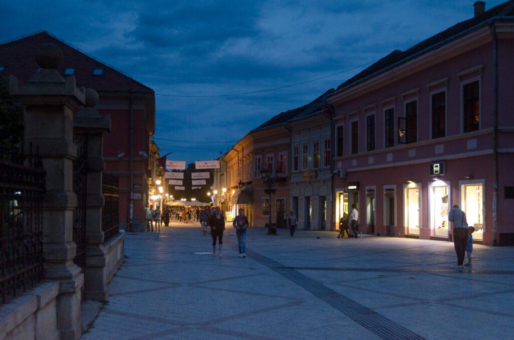 Dunavska ulica nocu