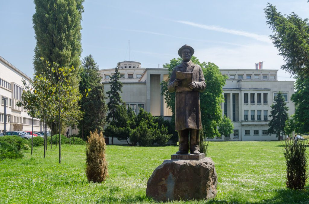 The monument to Vasa Stajic